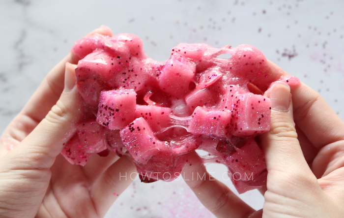 pink jelly cube slime