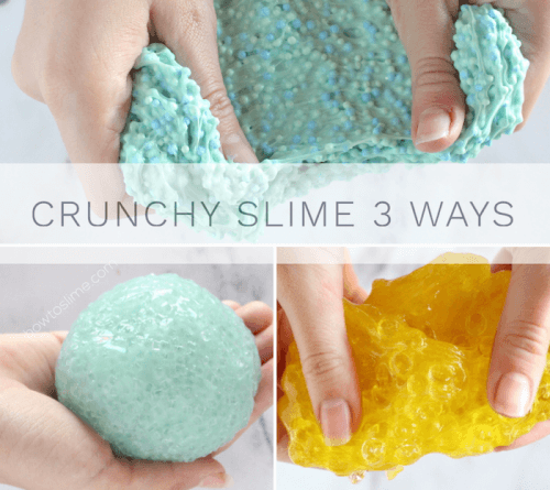 3 Ways to Make Crunchy Slime Recipes