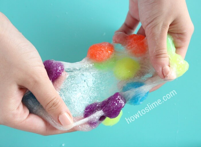 Rainbow Pom Pom Slime